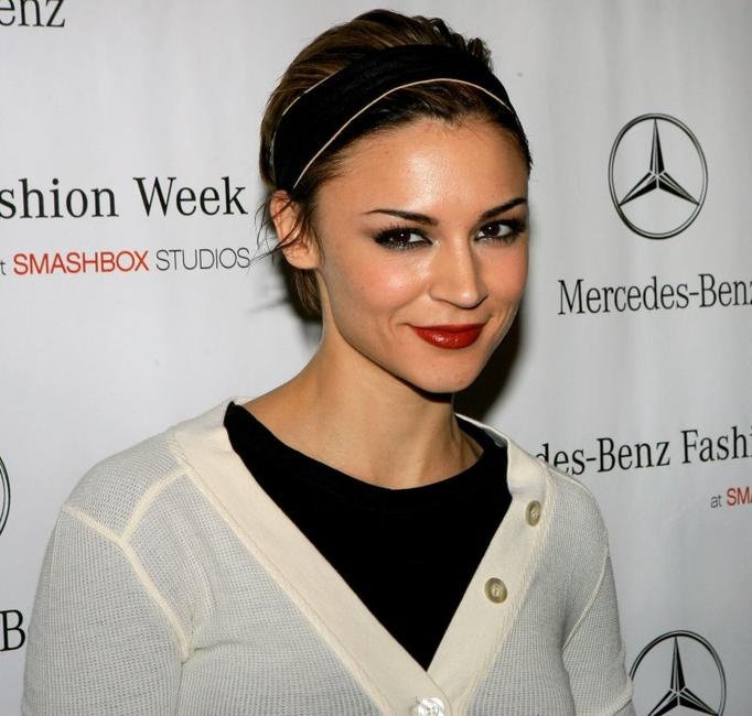 Samaire Armstrong at the Mercedes Benz Fashion Week.