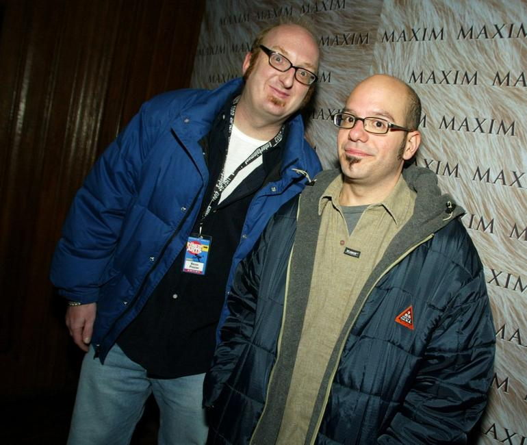 Brian Posehn and David Cross at the Maxim Magazine's