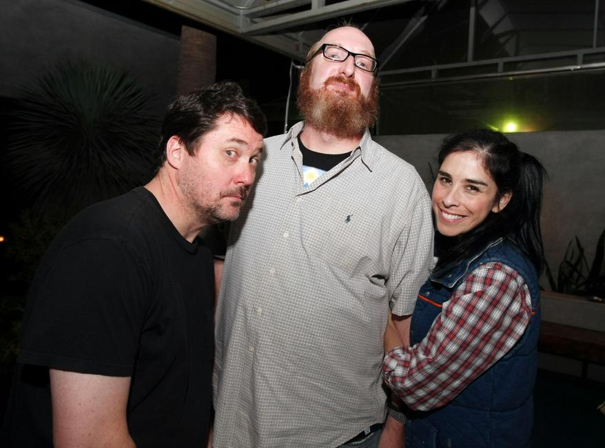 Doug Benson, Brian Posehn and Sarah Silverman at the Comedy Central's