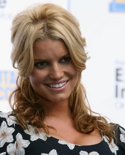 Jessica Simpson at the launch of Blockbuster Total Access.