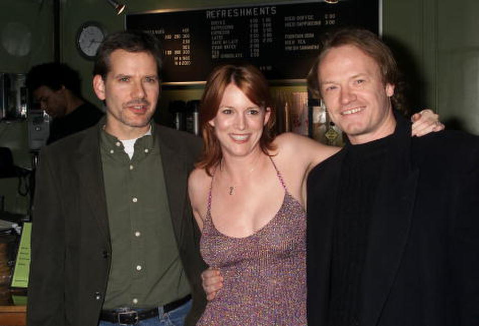 Jared Harris,Campbell Scott and Laurel Hollomon at the premiere of