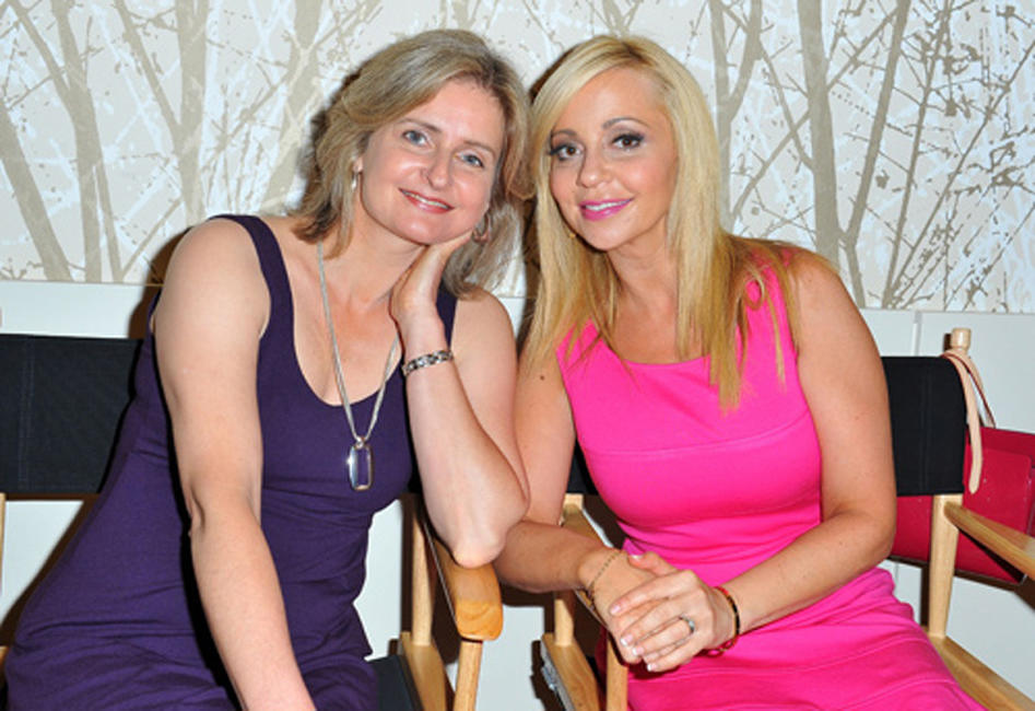 Cathy Weseluck and Tara Strong at the Press Junket of