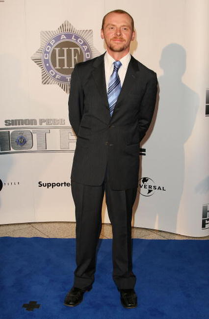 "Simon Pegg at the premiere of ""Hot Fuzz"" in Sydney, Australia."