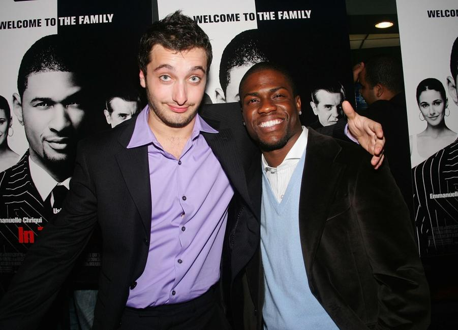Anthony Fazio and Kevin Hart at the premiere of