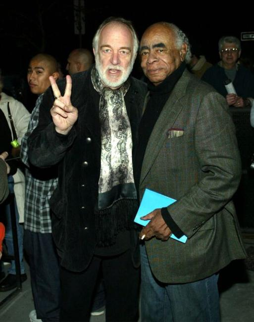 Howard Hesseman and Roscoe Lee Brown at the Lysistrata Project a worldwide theatre event for peace.