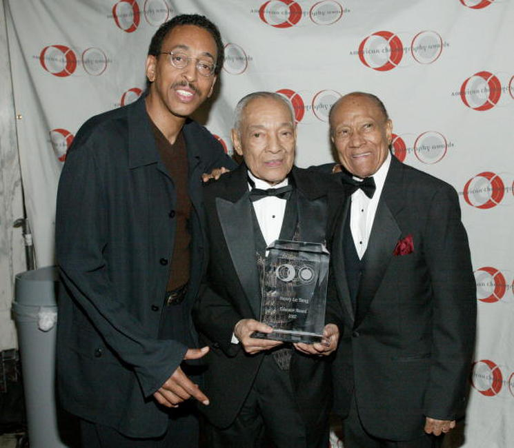 Gregory Hines, choreographer Henry Le Tang and actor and dancer Fayard Nicholas at the 8th Annual American Choreography Awards.
