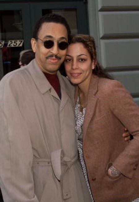 Gregory Hines and his daughter Daria at the opening of August Wilson's new Broadway play