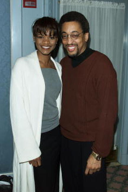 Gregory Hines and Kimberly Elise at the Television Critics Association Winter Press Tour.