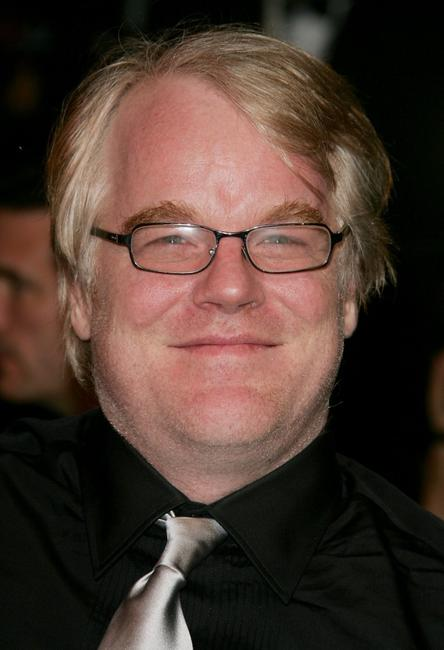 Philip Seymour Hoffman at the Vanity Fair Oscar Party.