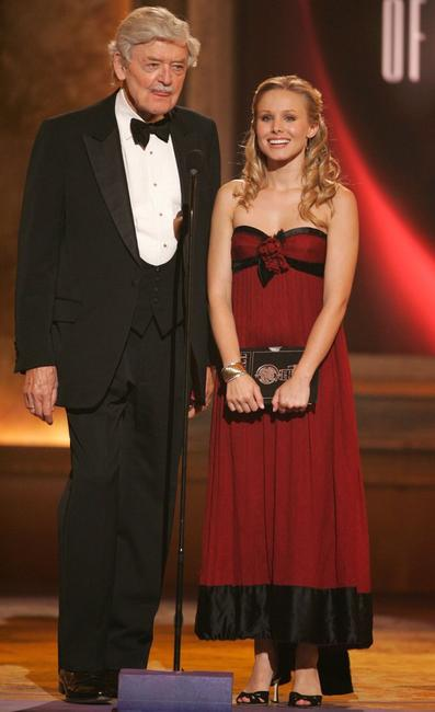 Hal Holbrook and Christine Bell at the 60th Annual Tony Awards at Radio City Music Hall.