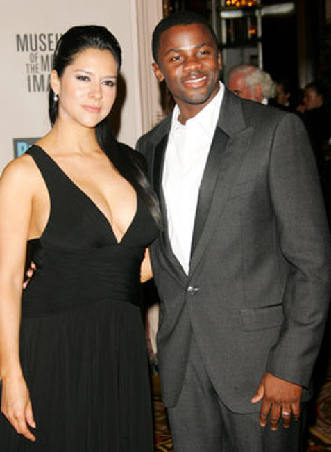 Derek Luke and wife Sophia at the Museum Of The Moving Image Salute to Will Smith in N.Y.