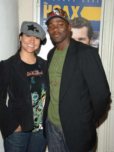 Sophia Luke and husband Derek Luke at the special screening of