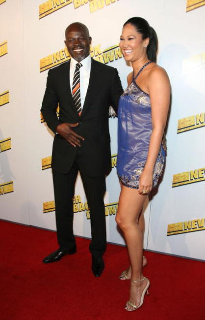Actor Djimon Hounsou and designer Kimora Lee Simmons at the Hollywood premiere of