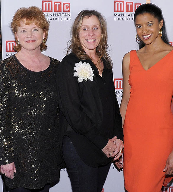 Becky Ann Baker, Frances McDormand Renee Elise Goldsberry at the opening night party of