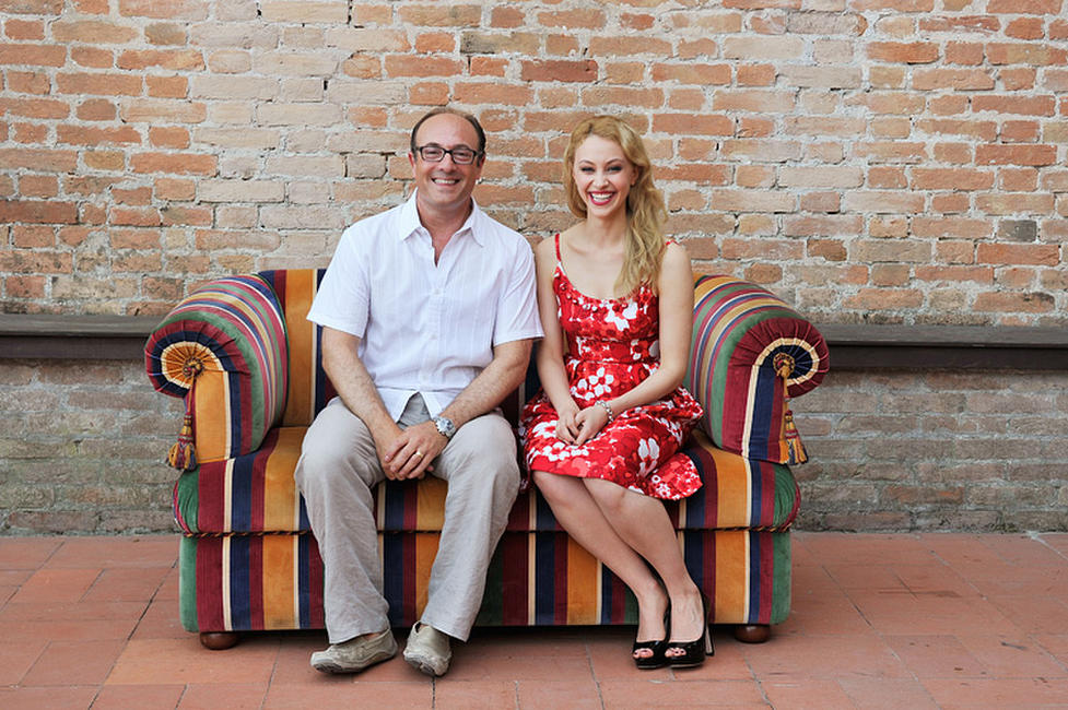 Producer Martin Katz and Sarah Gadon at the portrait session of