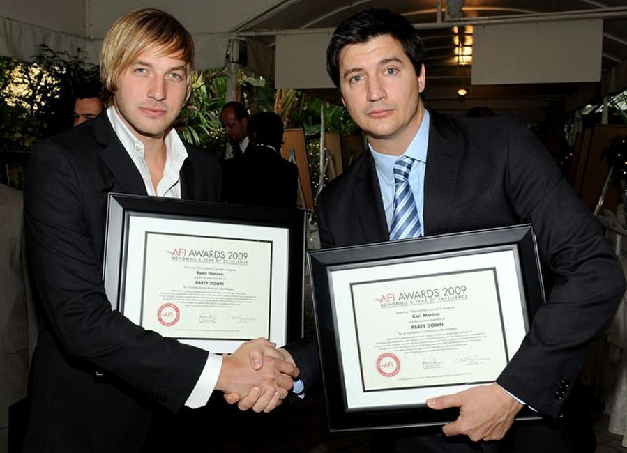 Ryan Hansen and Ken Marino at the Tenth Annual AFI Awards 2009.