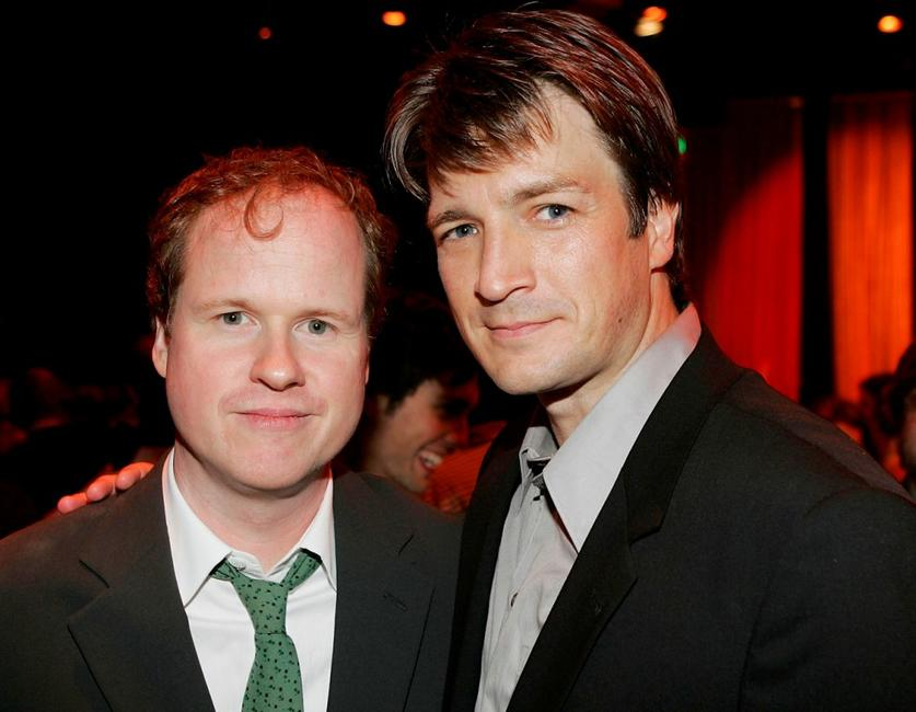 Joss Whedon and Nathan Fillion at the after party of the premiere of