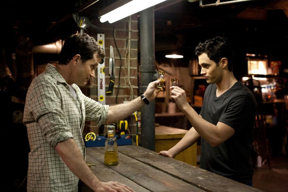 Dylan Walsh and Penn Badgley in