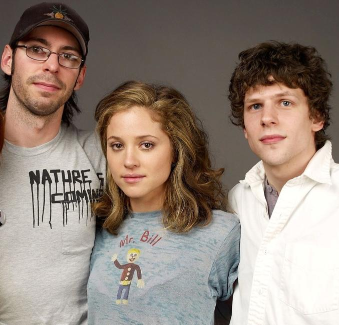Martin Starr, Margarita Levieva and Jesse Eisenberg at the 2009 Sundance Film Festival.