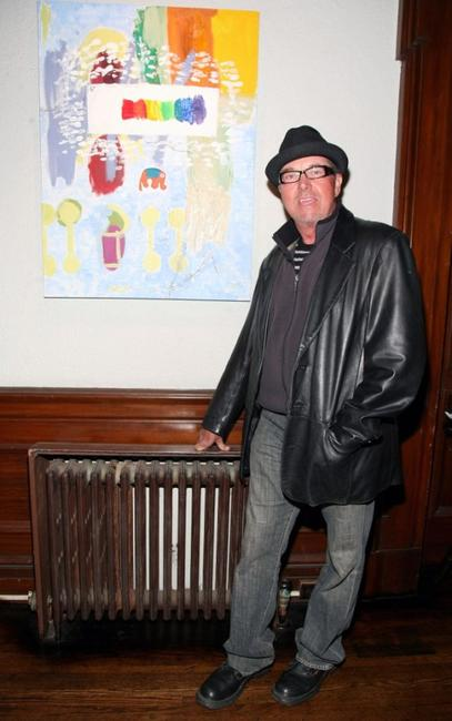 Gregory Itzin at the Mary Lynn Rajskub's Art Opening.