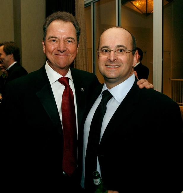 Gregory Itzin and Scott Powell at the 57th annual ACE Eddie Awards cocktail reception.