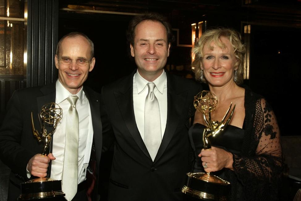 Zeljko Ivanek, John Landgraf and Glenn Close at the