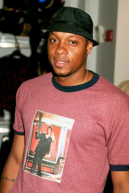 Dorian Missick at the new Express Flagship store.