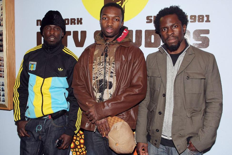 Michael Kenneth Williams, Jamie Hector and Gbenga Akinnagbe at the MTV's Sucker Free.