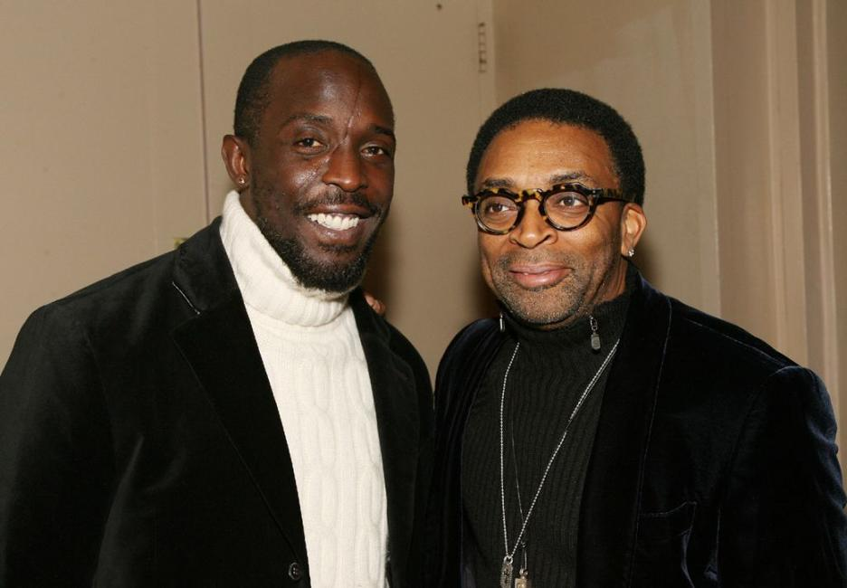 Michael Kenneth Williams and Director Spike Lee at the 35th Anniversary of the Jackie Robinson Foundation.