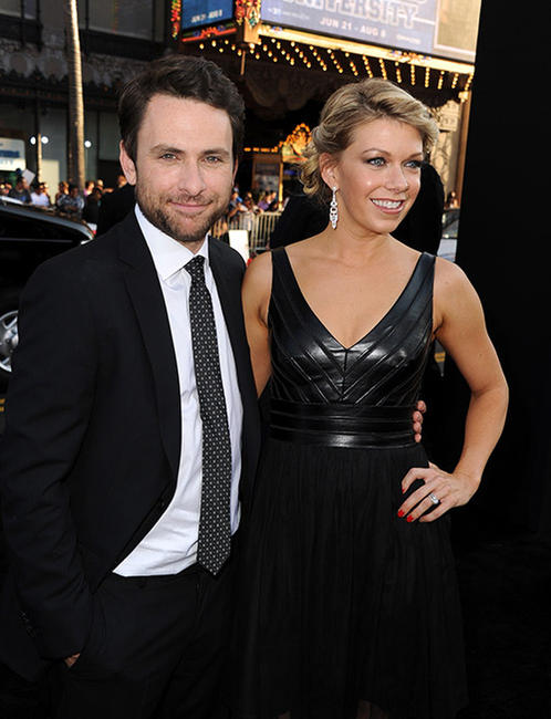 Charlie Day and Mary Elizabeth Ellis at the Hollywood premiere of