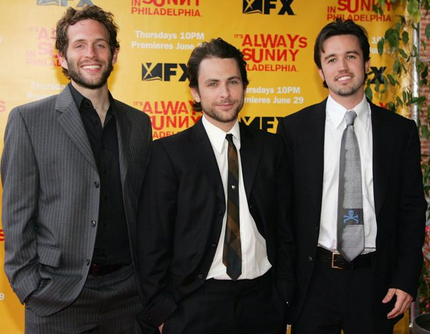 Glenn Howerton, Charlie Day and Rob McElhenney at the premiere of