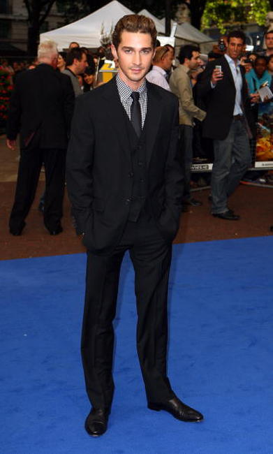 Shia LaBeouf at the premiere of