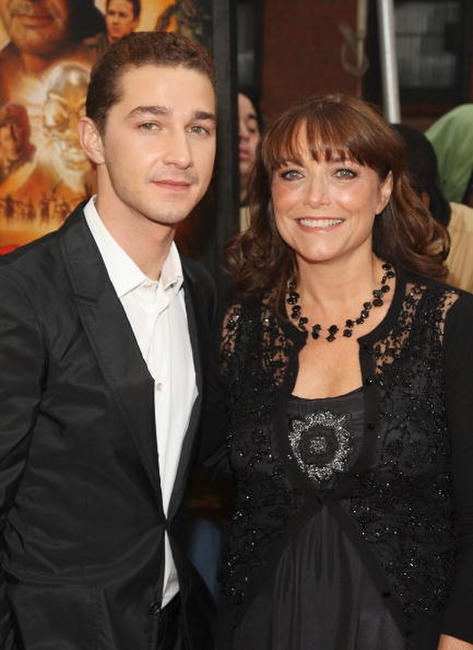 Shia LaBeouf and Karen Allen at the New York premiere of