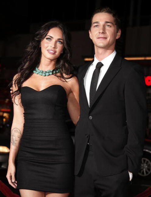 Megan Fox and Shia LaBeouf at the premiere of