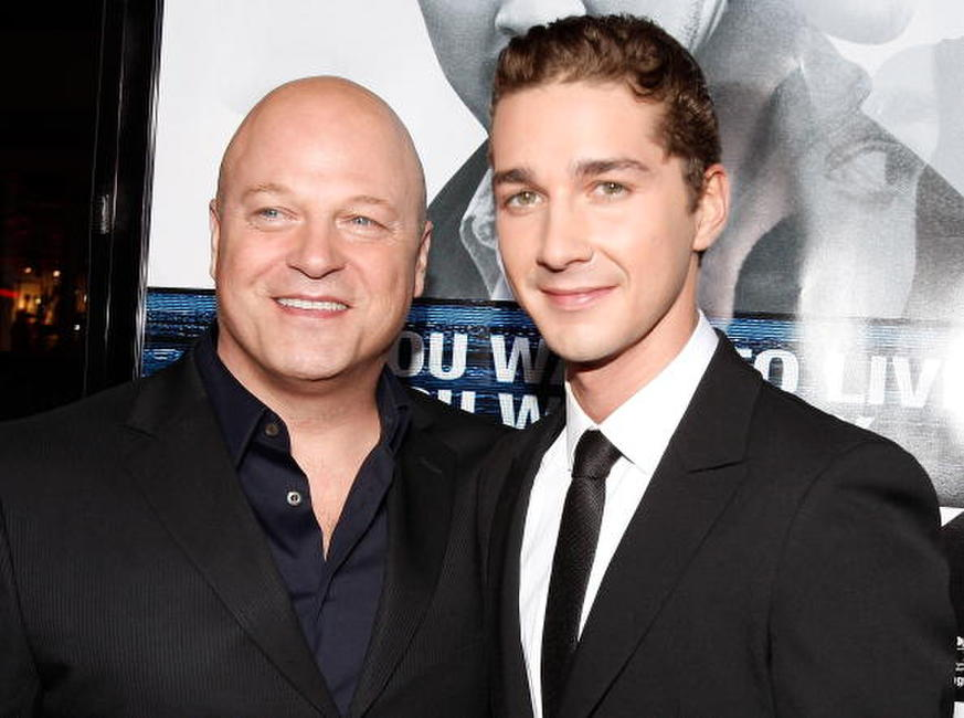 Michael Chiklis and Shia LaBeouf at the premiere of