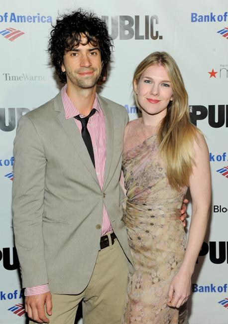 Hamish Linklater and Lily Rabe at the opening night celebration of