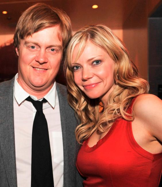 Jonathan Craven and Riki Lindhome at the after party of the premiere of
