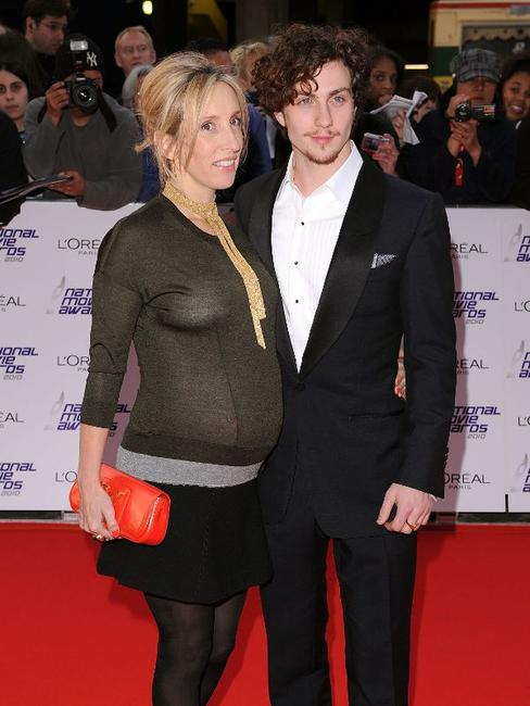 Sam Taylor Wood and Aaron Johnson at the National Movie Awards 2010.