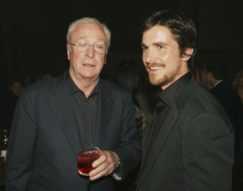 Michael Caine and Christian Bale at the