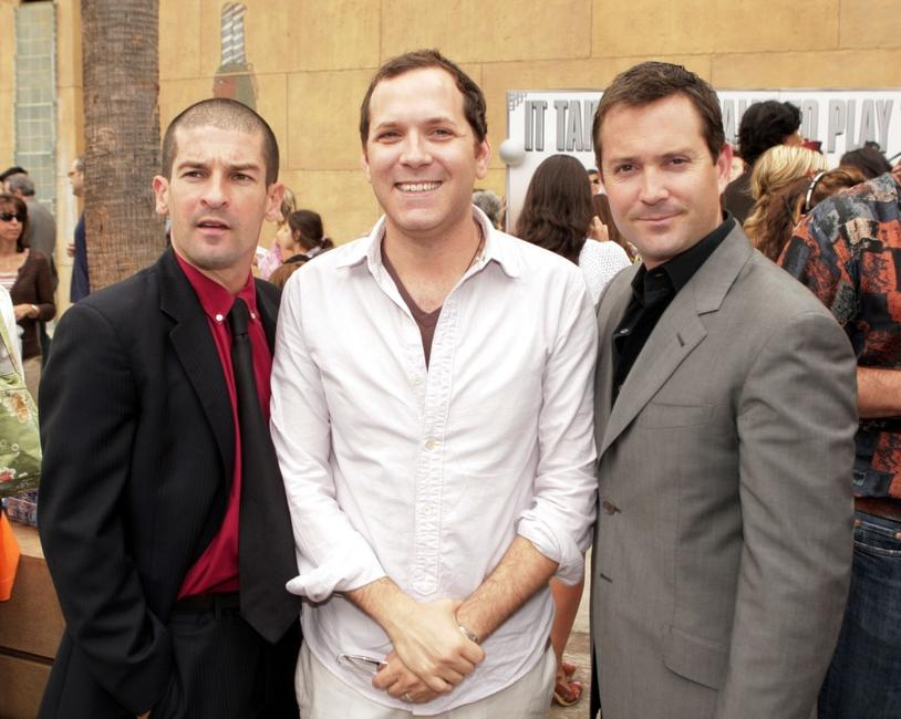 Ben Garant, Andrew Rona and Thomas Lennon at the premiere of