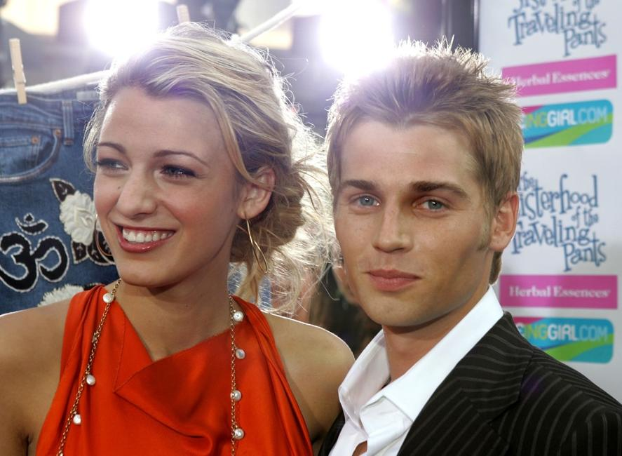 Blake Lively and Mike Vogel at the premiere of