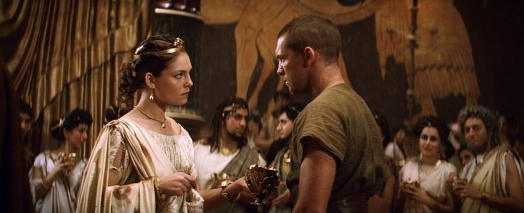 Alexa Davalos as Andromeda and Sam Worthington as Perseus in
