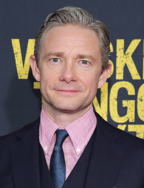 Martin Freeman at the New York premiere of