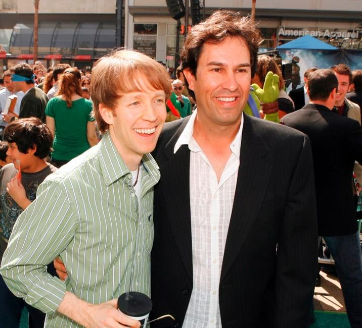 James Arnold Taylor and H. Galen Walker at the premiere of