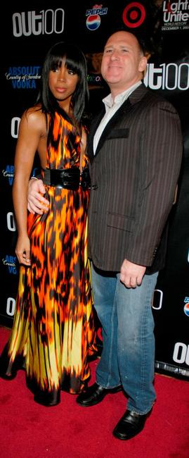 Kelly Rowland and Out Magazine publisher Jay Adams at the 13th Annual OUT 100 Awards.