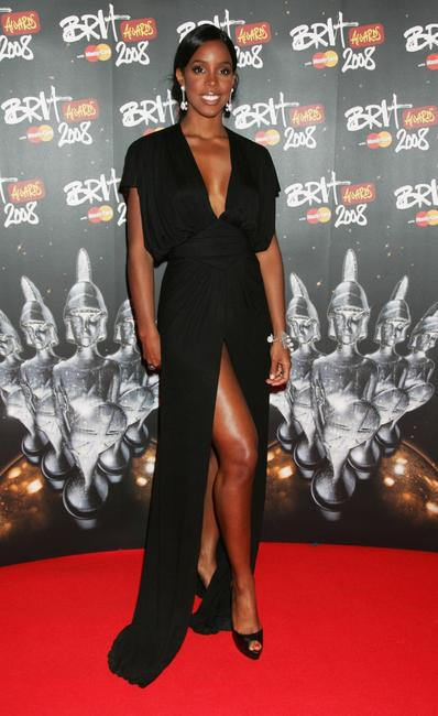 Kelly Rowland at the Brit Awards 2008.