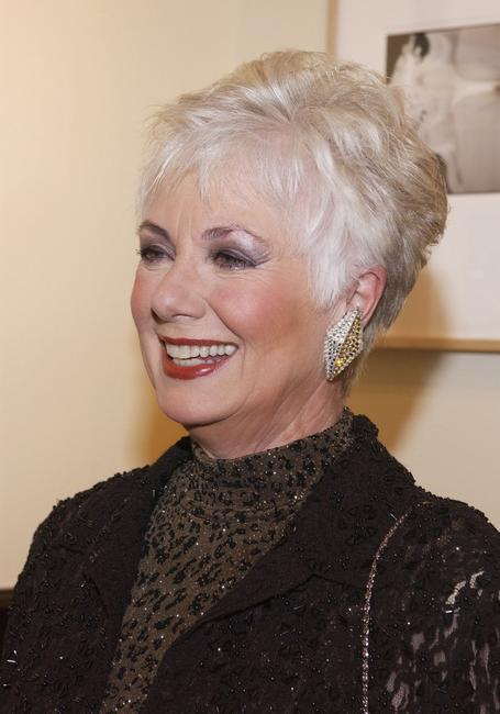 Shirley Jones at a cocktail party celebrating the launch of actor Jeff Bridges' new book of photographs entitled