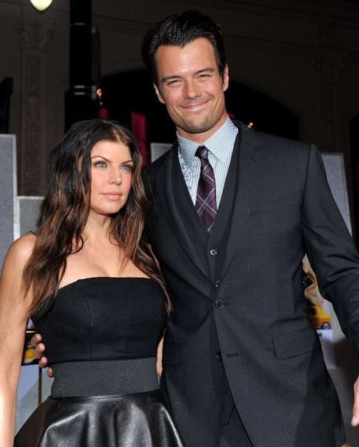 Stacy Ferguson and Josh Duhamel at the California premiere of