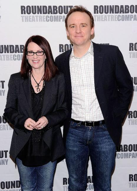 Megan Mullally and David Wilson Barnes at the