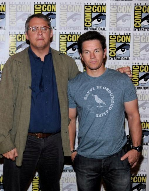 Adam McKay and Mark Wahlberg at the press conference of